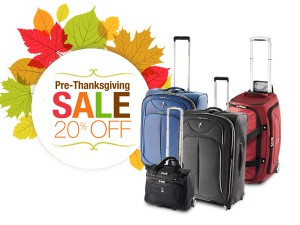 Travelpro's pre-Thanksgiving sale image