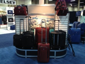The Platinum Magna Luggage collection at the 2013 Travel Goods Association show.