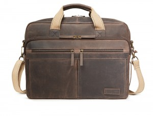 National Geographic Leather Briefcase