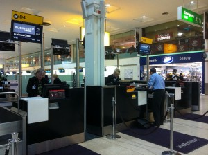 Check-In Counter at London Heathrow
