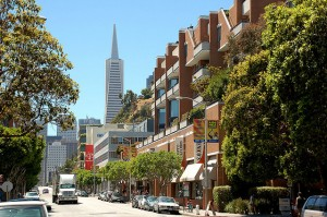 Sansome & Lombard Streets in San Francisco