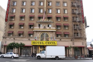 The Cecil Hotel, which inspired the American Horror Story: Hotel series.