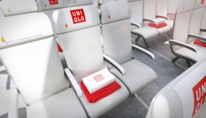Middle airplane seat with extra amenities