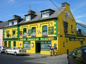 Yellow Irish pub