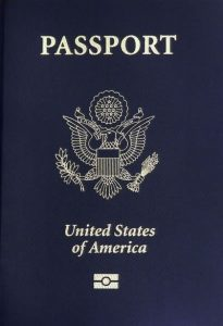 A biometric US passport
