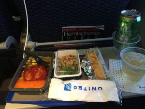 United Airlines International Economy Meal