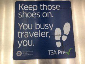 TSA Pre-Check sign