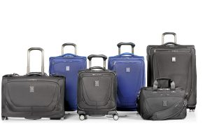 Travelpro Crew 11 Group Photo including spinner and Rollaboard bags