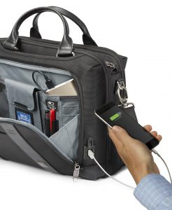 Crew Executive Choice 2 Briefcase with phone charger. Ideal for business travelers