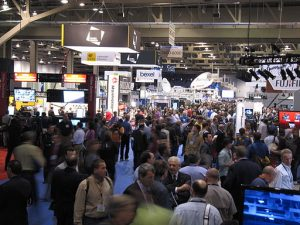 A trade show floor can be the size of several football fields, which will wear out even the fittest road warrior.