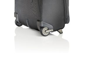 If your suitcase wheels stick, make sure there's nothing stuck in them.
