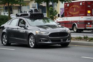 Self-driving Uber prototype being tested in San Francisco