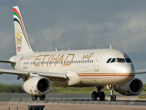 Business travelers on Etihad Airways and other Middle East airlines were concerned about a laptop ban.