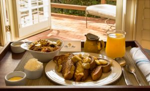 Hotel room service can be convenient on business travel trips.