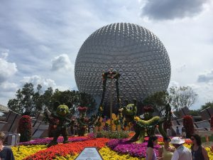 Bleisure travel can happen anywhere, but it's especially fun if you're near Orlando. This is the Geosphere at EPCOT.