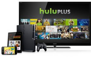 You can watch Hulu Plus or Netflix on different electronic devices while traveling.