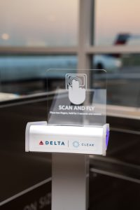 Delta Airlines' machine for biometric boarding passes