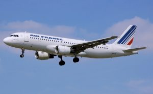 An Air France flight, a nice plane for international air travel