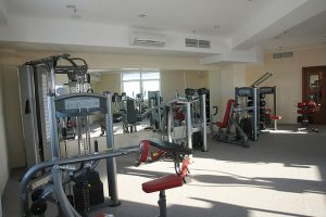 A hotel gym is a great way to work out and help stay healthy.