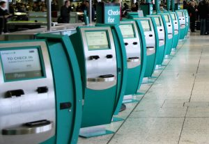 Self-check-in kiosks is often the dirtiest place in the airport.