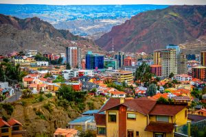 Zona Sur area of La Paz, Bolivia. You need travel vaccinations if you visit Central or South America.