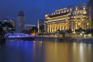 The Fullerton Hotel in Singapore. The 2019 global travel forecast predicts higher prices and limited availability for hotels in Asia and other parts of the world.