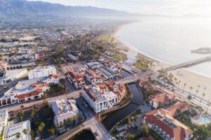Aerial photo of Santa Barbara, California