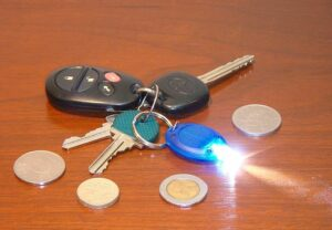 A keychain flashlight can help save your life when you travel.