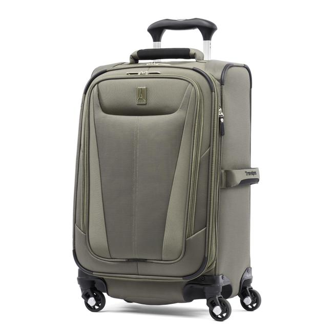 The Maxlite 5 21 inch spinner, a piece of softside luggage. Ideal for the serious new traveler