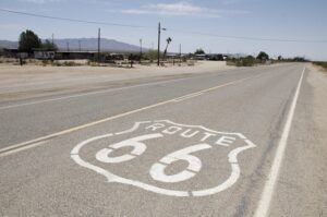 Photo of Route 66, the quintessential American road trip.