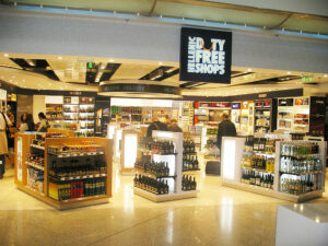 When you're at the airport, you may want to avoid the duty free shops because they're not really a bargain.