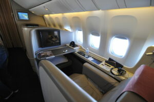 A first-class seat like this would be ideal for a long-haul flight