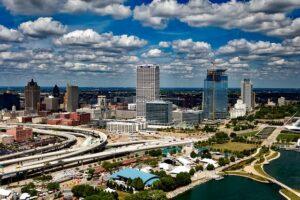 Aerial photo of Milwaukee, Wisconsin