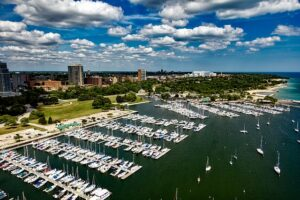 The city marina of Milwaukee, Wisconsin
