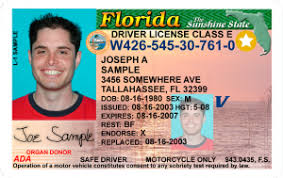 Sample of a Real ID from Florida