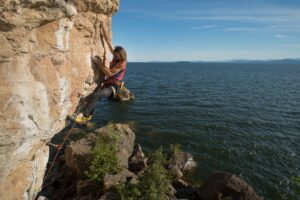 Rock climbing in Burlington, Vermont