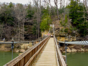 Turkey Run State Park in western Indiana. State parks are a great way to take social distancing vacations