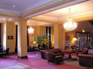 The Melbourne Windsor Hotel Lobby. Do you have safer travel options staying in a hotel or an Airbnb?