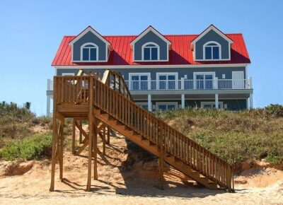 A beach house makes a great vacation rental, even if it's just for a few days.