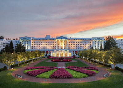 Front Entrance to the Greenbrier Hotel & Resort